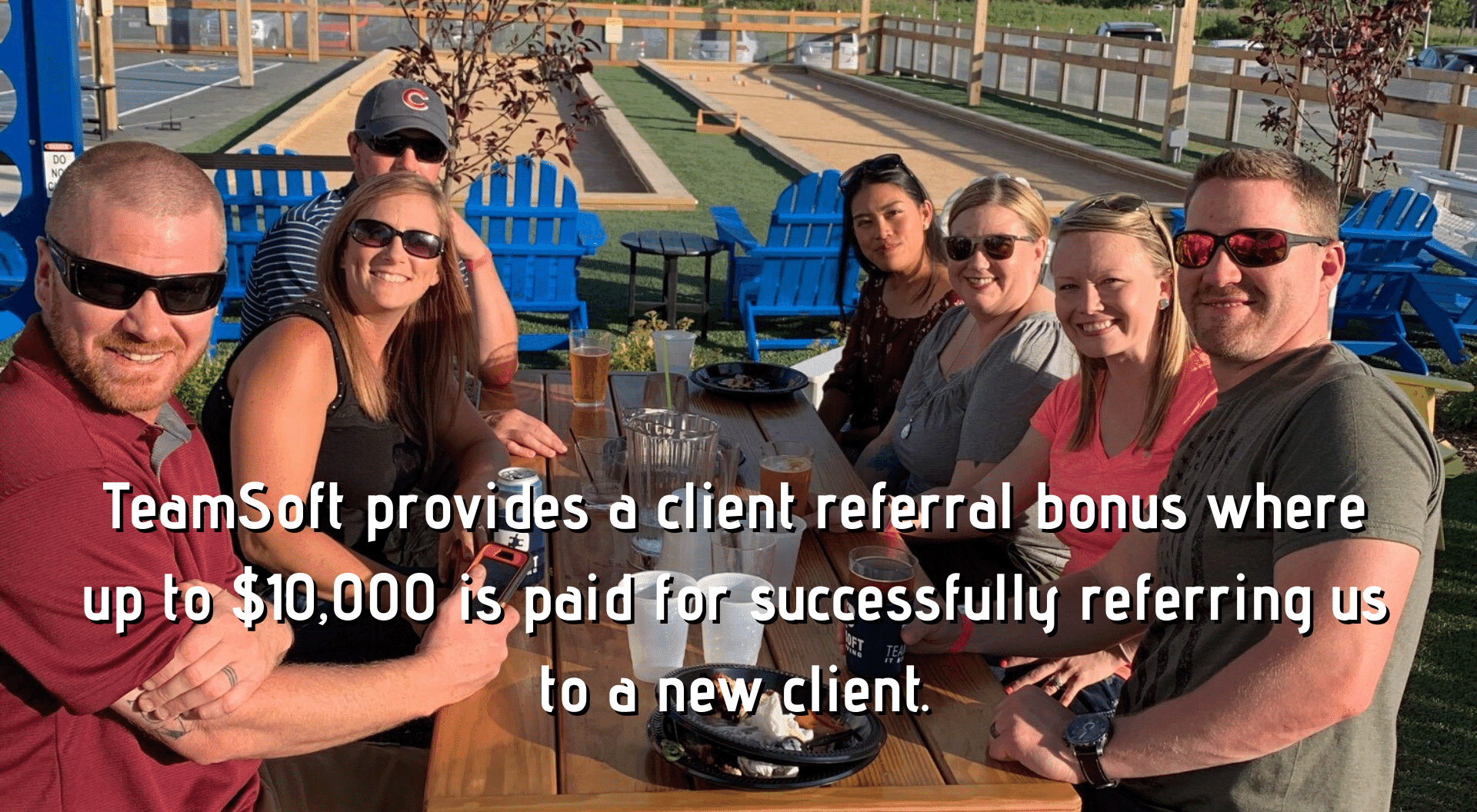 TeamSoft provides a client referral bonus where up to 10000 is paid for successfully referring us to a new client. 2019