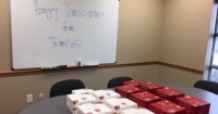 Pie Giveaway at the TeamSoft Des Moines' Office